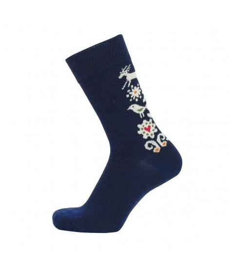 Merino ponožky Birds blue