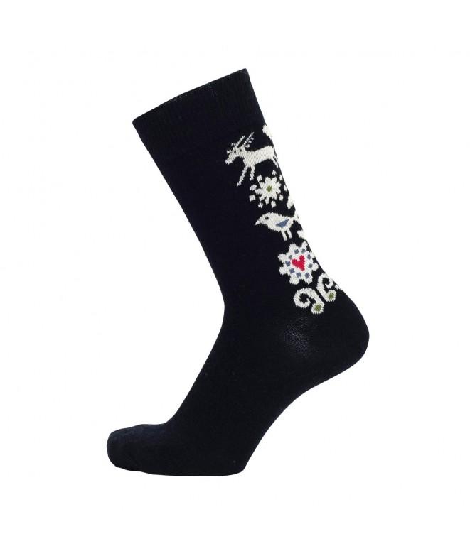 Merino ponožky Birds black