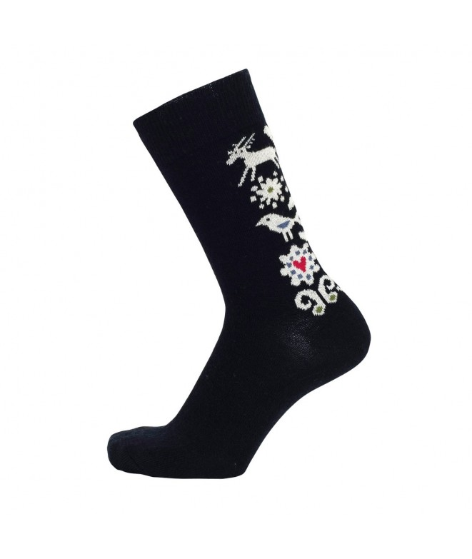 Merino socks Birds black