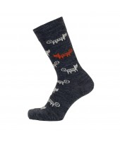 Merino socks Cat antracite