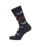 Merino ponožky Cat antracite