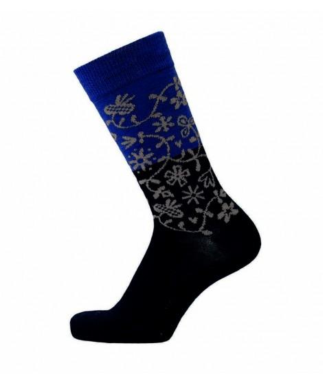 Merino socks Garden blue