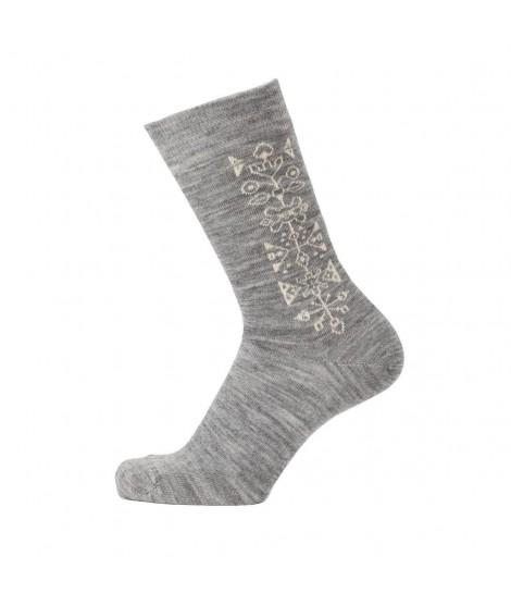 Merino socks Tradition light grey