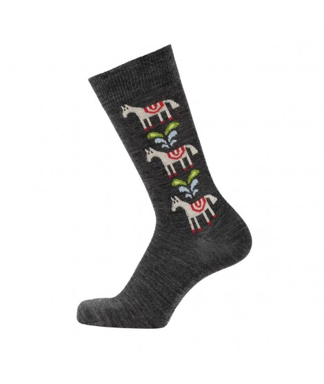 Merino ponožky Horse antracite