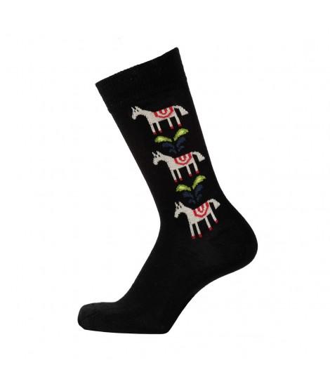 Merino socks Horse black