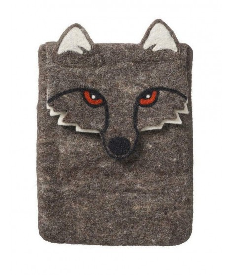 Felted iPad cover Wolf 31x20