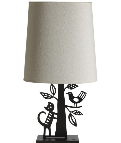 Table lamp The cat and the bird 38x30