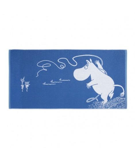 Bath towel Moomin blue 70 x 140