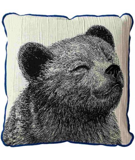 Povlak na polštář KARHU medvěd černobílý 50x50