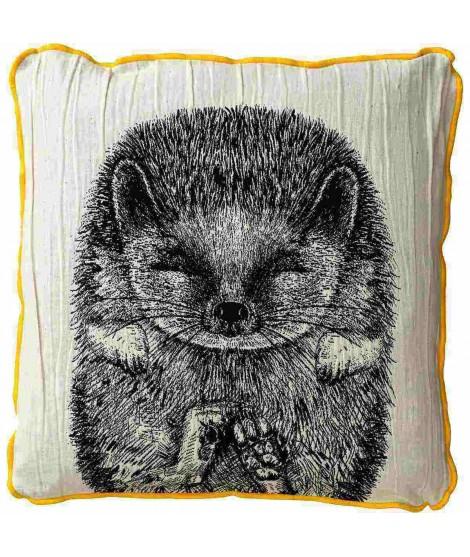 Povlak na polštář SIILI ježek černobílý 50x50
