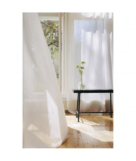 Lněný okenní závěs LIINU white 140x250
