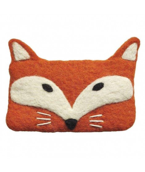 Felted purse Wolf orange 14x10