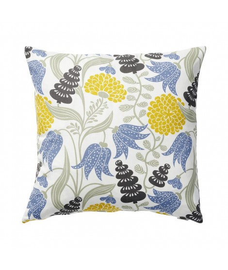 Cushion cover Lily yellow blue 45x45