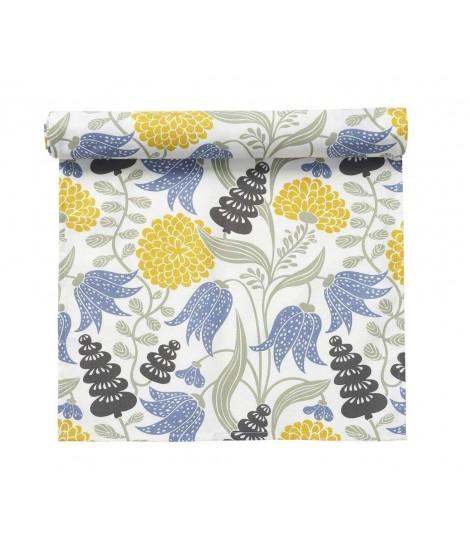 Běhoun na stůl Lily yellow blue 45x150