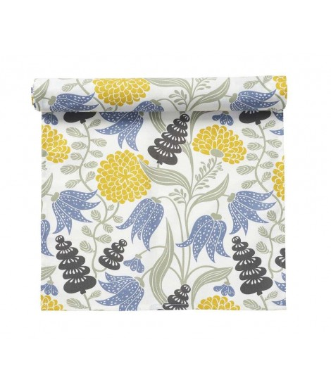 Table runner Lily yellow blue 45x150