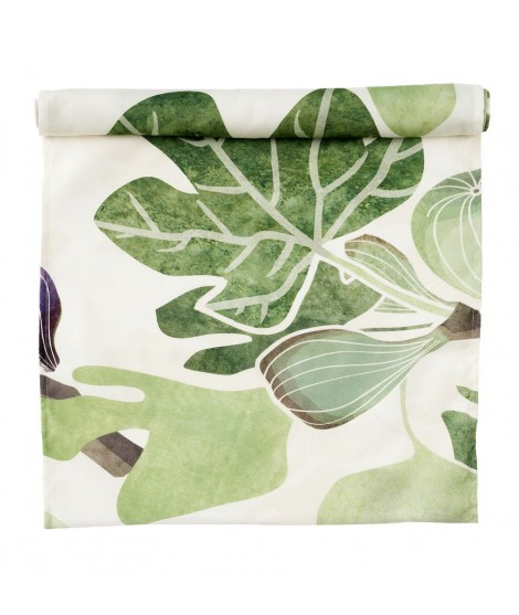 Table runner Figs green 45x150