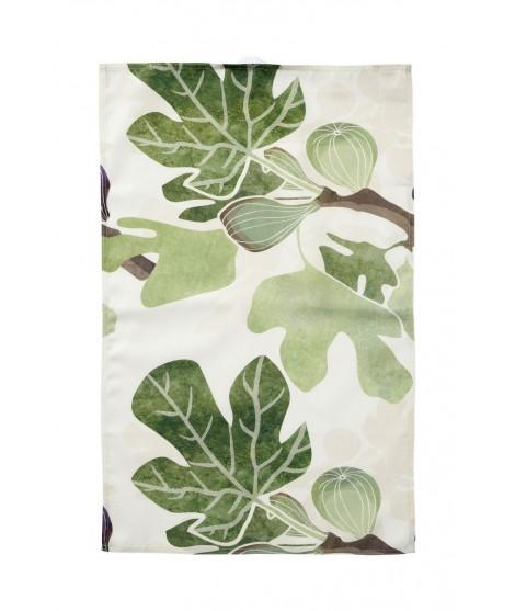 Kitchen towel Figs green 46x70