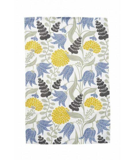 Kuchyňská utěrka Lily yellow blue 46x70