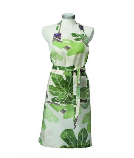 Kuchyňská zástěra Figs green