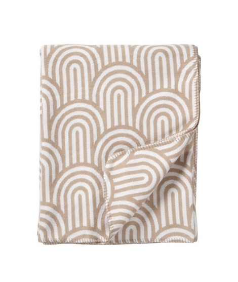 Cotton blanket Arcade beige 140x180
