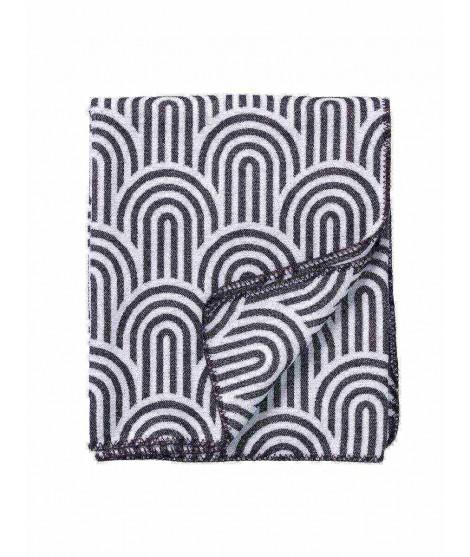 Cotton blanket Arcade black 140x180