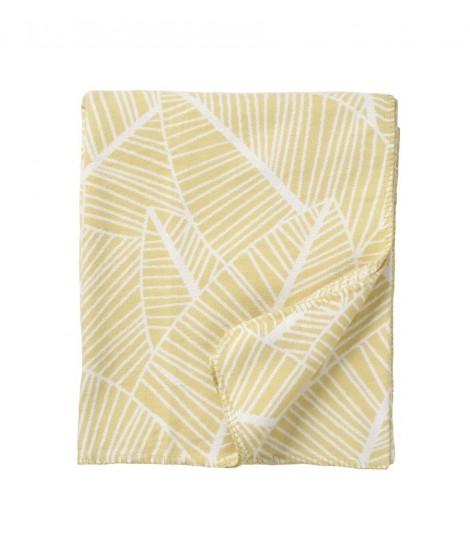 Cotton blanket Plant yellow 140x180