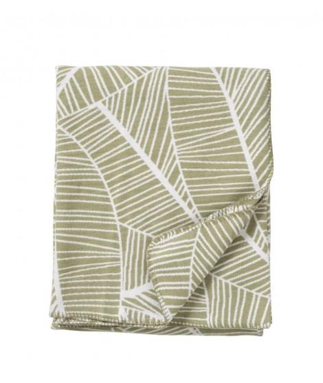 Bavlněná deka Plant green 140x180