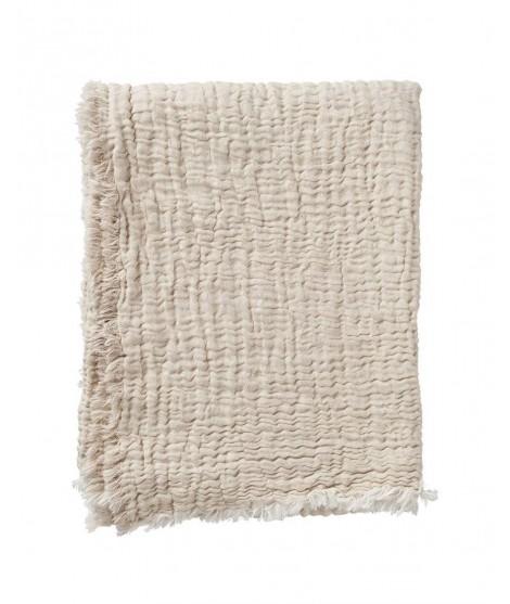 Cotton blanket DUO beige 130x170
