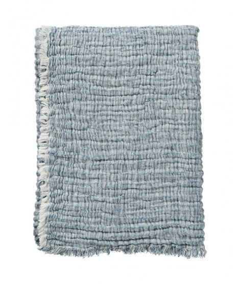 Cotton blanket DUO blue 130x170