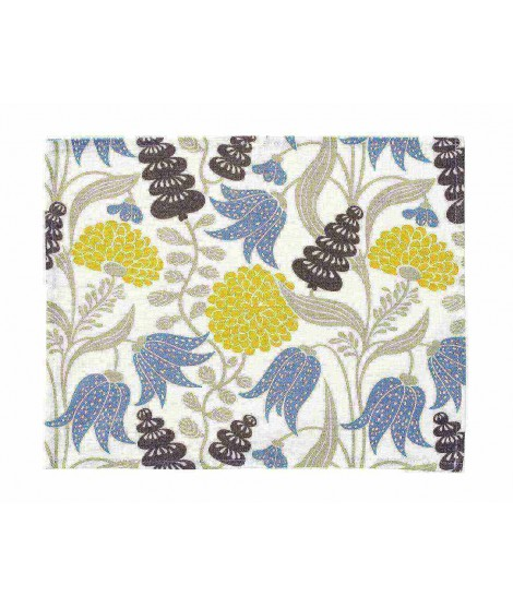 Table mats Lily yellow blue 2-set 45x35