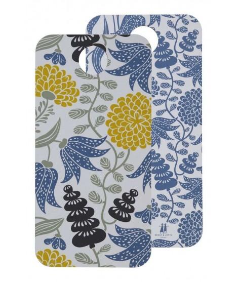 Cutting board Lily yellow blue 40x20