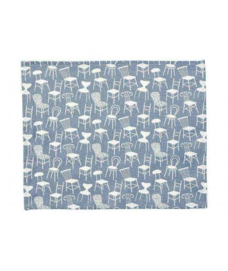 Prostírání Chairs blue 2-set 45x35