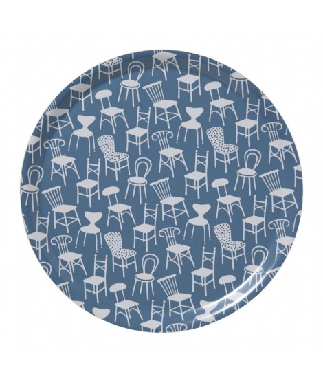 Round tray Chairs blue d38