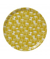 Round tray Chairs yellow d38