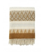 Woolen throw Freja amber 130x200