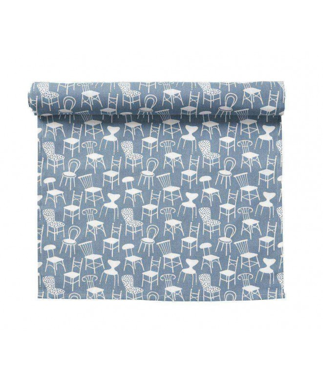 Table runner Chairs blue 45x150