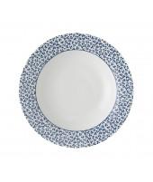 Deep plate Floris blue 22cm