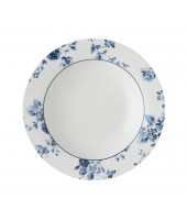 Deep plate China Rose blue 22cm