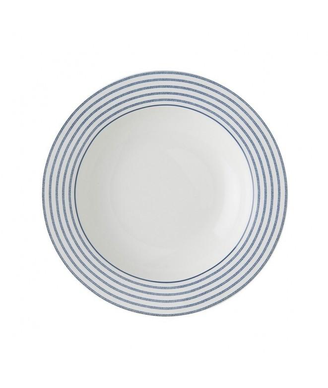 Deep plate Candy Stripe blue 22cm