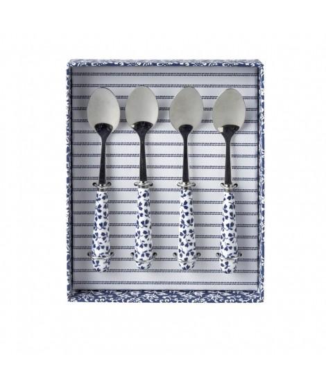 Čajové lžičky Floris blue 4 ks set v krabičce