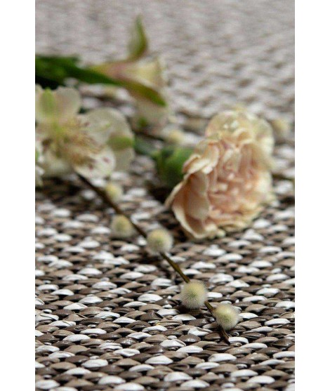 Plastic rug Gritty taupe 70x150