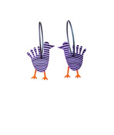 Earrings Bird 4A