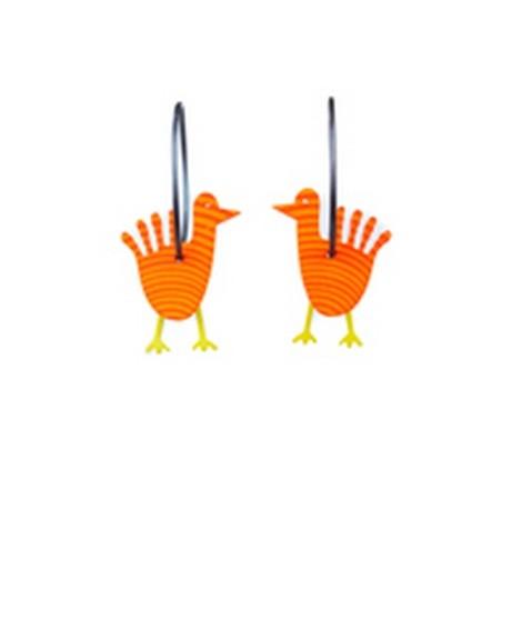 Earrings Bird 6D