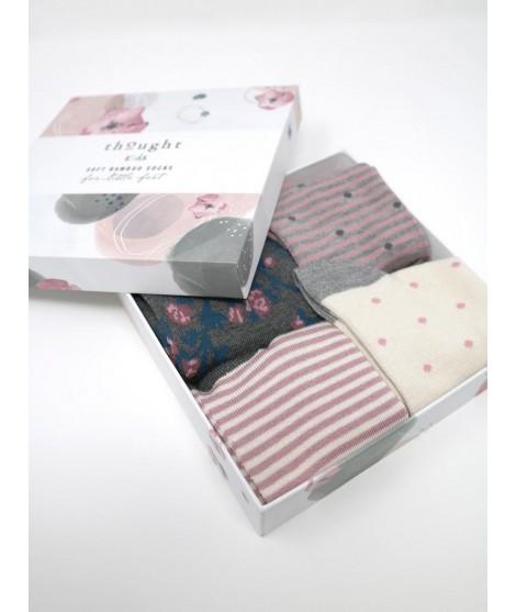 Dětské bambusové ponožky Rose baby 4-set