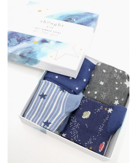 Kids bamboo socks Twinkle blue 4-set