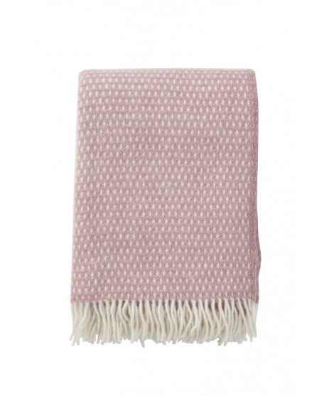 Wool throw Knut pink 130x200