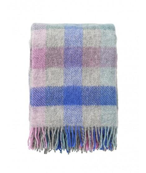 Wool throw Gotland multi pastel 130x200