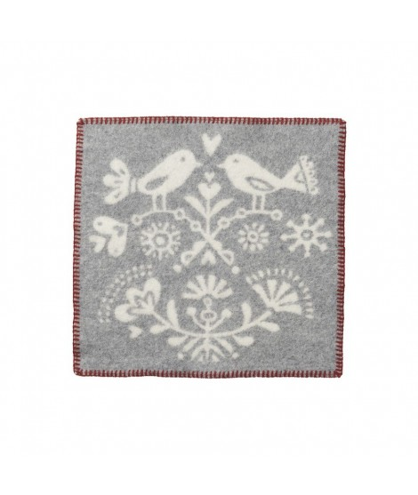 Wool seat pad Joy grey 43x43