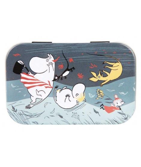 Malá plechová dóza Moomin Storm2 10x6,5x2cm