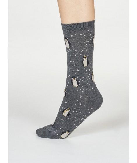 Bambusové ponožky Penguin dark grey